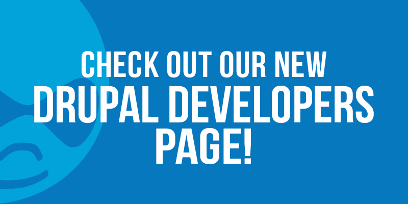 Check Out Our New Drupal Developers Page!