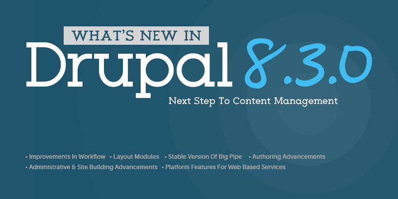 What's new in Drupal 8.3.0?