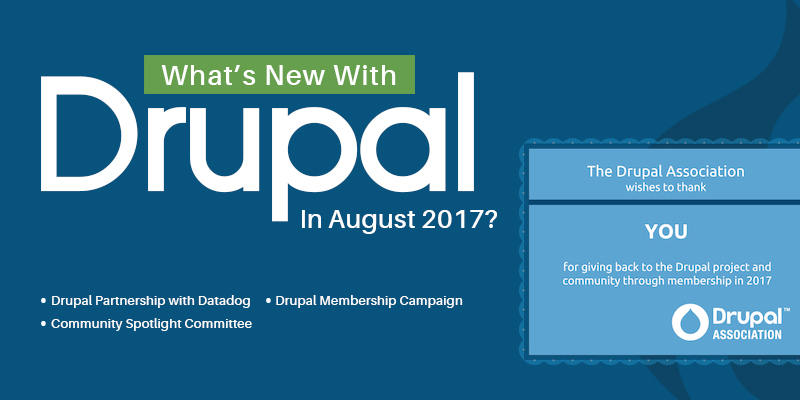 What's New With Drupal This August 2017?